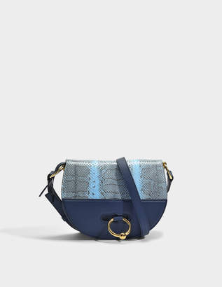J.W.Anderson Latch Bag in Navy Ayers Snake