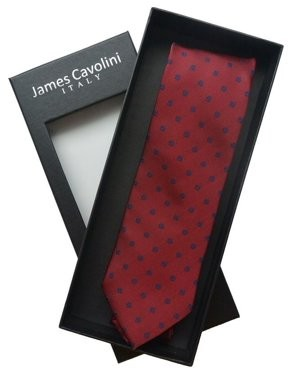 James Cavolini Italy Textured Purple Dot Neck Tie
