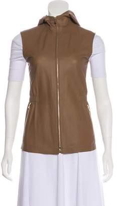Loro Piana Leather Hooded Vest