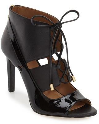 Women's Calvin Klein 'Narea' Ghillie Peep Toe Pump $159.95 thestylecure.com