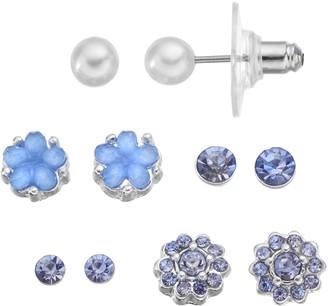 Lauren Conrad Flower Stud Earring Set