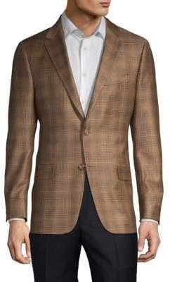 Hickey Freeman Milburn II Wool Check Sport Coat