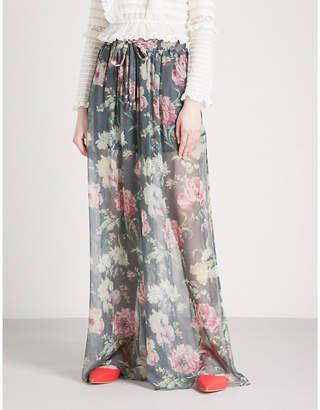Zimmermann Melody high-rise silk-chiffon palazzo trousers