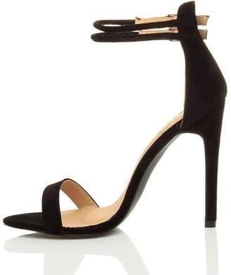 Nansay Women's Shoes Customize Cover Heel Sandals Big Size Stiletto High Heel Buckle Strap Peep Toe Pumps Suede US13