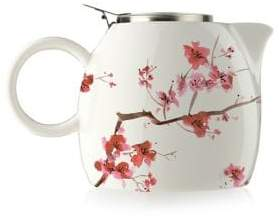 Tea Forte Floral Ceramic and Stainless Steel Teapot