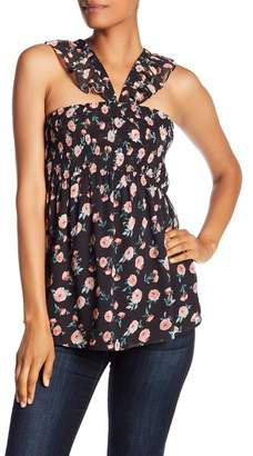 Doe & Rae Woven Floral Top