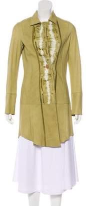 Henry Beguelin Leather Knee-Length Coat