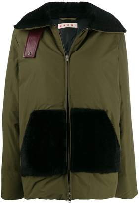Marni fur detail padded jacket