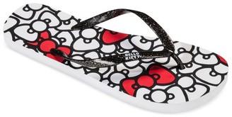 Hello Kitty Women's Hello Kitty Bow Flip Flop $9.99 thestylecure.com