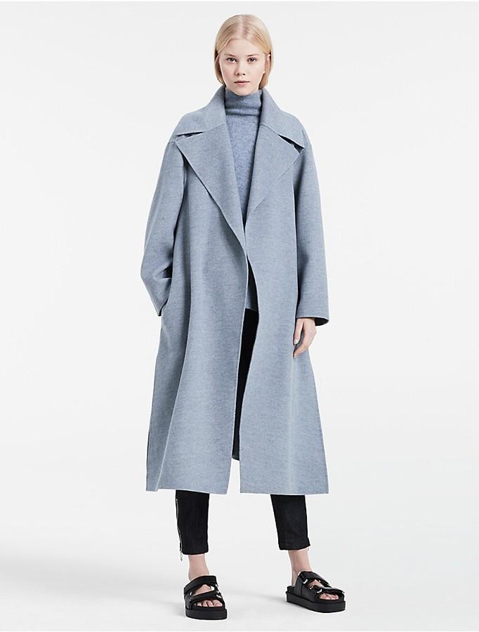 Calvin KleinPlatinum Lightweight Wool Cashmere Coat