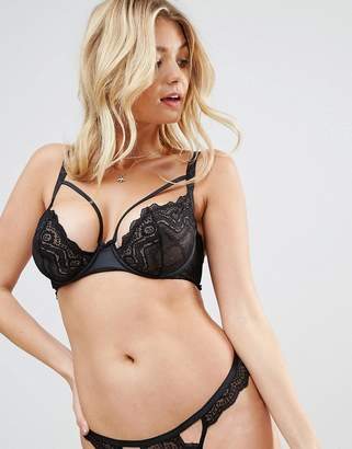 Asos Design FULLER BUST Malin Strappy Lace Underwire Bra