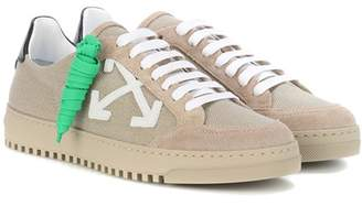 Off-White Canvas and suede sneakers