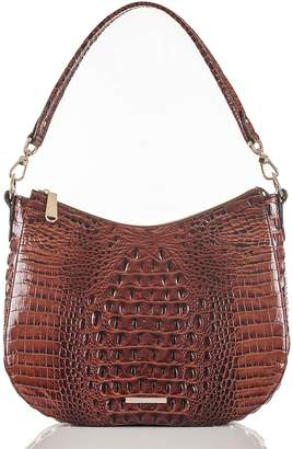 Brahmin Daphne Croc Embossed Leather Hobo