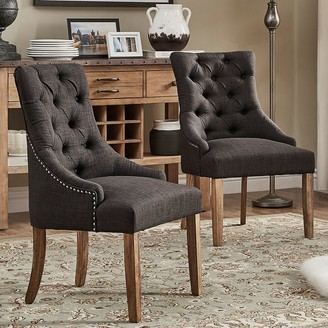 Homevance HomeVance Tristania Tufted Accent Chair 2-piece Set
