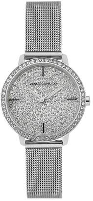 Vince Camuto Women's Silver-Tone Pave Dial Watch With Swarovski Crystals, 26mm