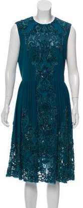 Elie Saab Embellished Silk-Blend Dress w/ Tags Green Embellished Silk-Blend Dress w/ Tags