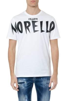 Frankie Morello Eugenio White Cotton T-shirt With Logo Brand Patch