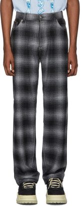 Eytys Grey Tartan Benz Trousers