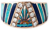 Jacquie Aiche Sunset Opal & Diamond Mosaic Ring