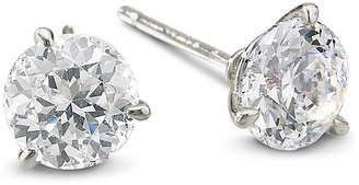 JCPenney FINE JEWELRY DiamonArt Sterling Silver 3 CT. T.W. Cubic Zirconia Stud Earrings