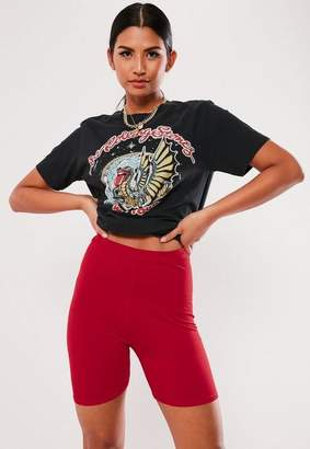 Missguided Red Biker Shorts