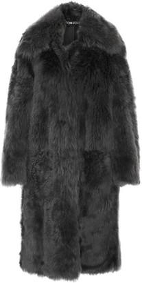 Shearling Coat - Dark gray