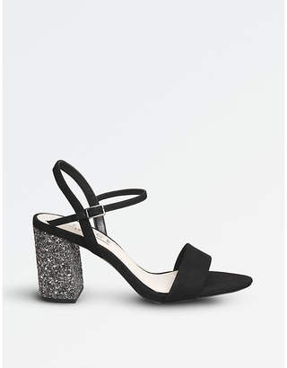 Office Millionaire glitter-heel metallic sandals