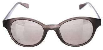 Diane von Furstenberg Mirrored Round Sunglasses
