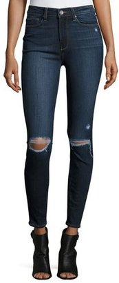 Paige Denim Hoxton Destructed Ankle Jeans, Aveline $199 thestylecure.com