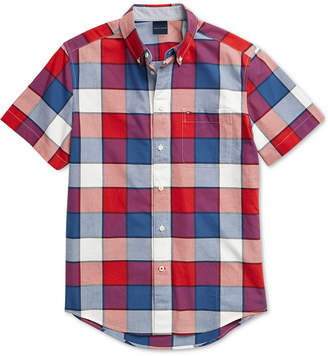 Tommy Hilfiger Adaptive Men Whalen Plaid Shirt with Magnetic Buttons