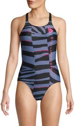 adidas by Stella McCartney Printed 1-Piece Swimsuit