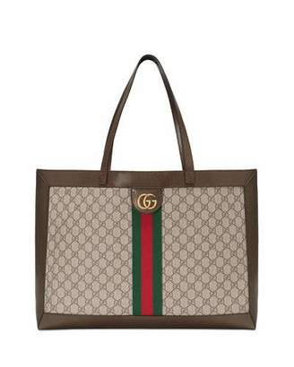 b91ec487cd51 Gucci Ophidia Soft GG Supreme Canvas Tote Bag with Web