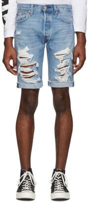 Levi's Levis Blue Denim 501 Original-Fit Cut-Off Shorts