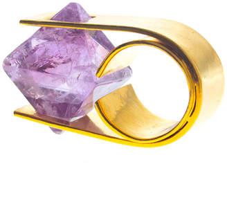 Charlene Court Amethyst Octahedral Ring