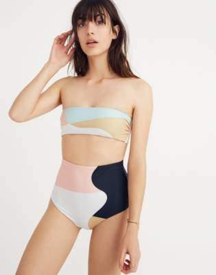 Madewell Mara Hoffman Abigail Bandeau Bikini Top