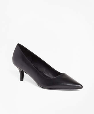 Brooks Brothers Leather Point-Toe Pumps