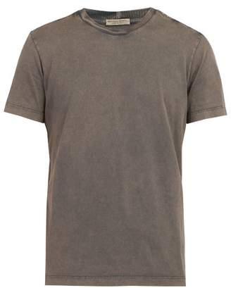 Bottega Veneta Intrecciato Panel Cotton T Shirt - Mens - Grey