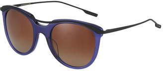 Salt Elkins Round Transparent Acetate/Metal Sunglasses