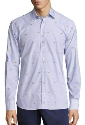 Etro Sea Creature Button-Down Shirt