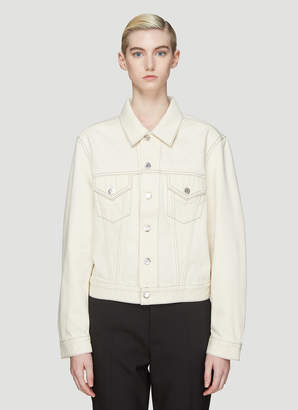 Helmut Lang Trucker Denim Jacket in Cream