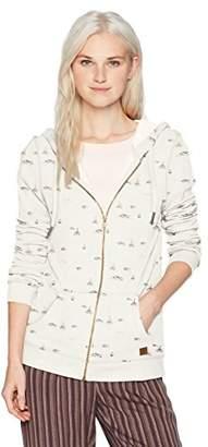 Roxy Junior's Trippin Stripes Zip-Up Fleece Sweatshirt