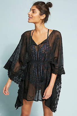 Anthropologie Concha Embroidered Caftan