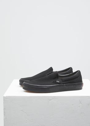 Vans black / black classic slip-on $50 thestylecure.com
