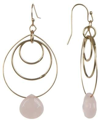 Melrose and Market Genuine Semi-Precious Stone Triple Ring Drop Earrings