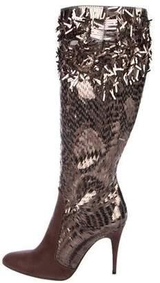 Rene Caovilla Sequin Knee-High Boots