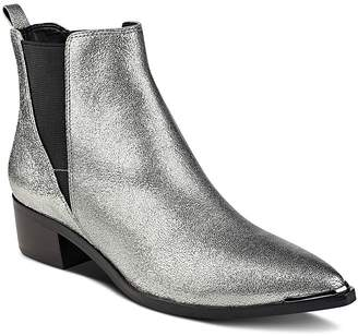 Marc Fisher LTD. Yale Metallic Leather Pointed Toe Chelsea Booties - 100% Exclusive $179 thestylecure.com