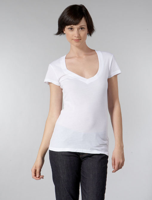 Daftbird Sweetheart Neck Tee in White