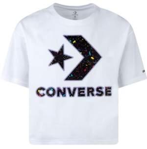 Converse Big Girls Cotton Splatter-Print Logo T-Shirt