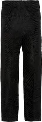 Haider Ackermann Cropped Wool-Blend Jacquard Straight-Leg Pants