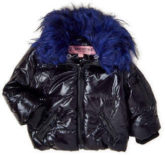 Urban Republic Toddler Girls) Faux Fur Trim Quilted Puffer Coat